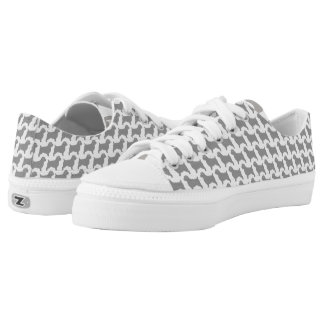 Norfolk Terrier Silhouettes Pattern Low Tops