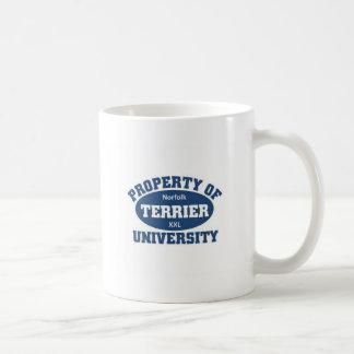 Norfolk Terrier University Coffee Mug