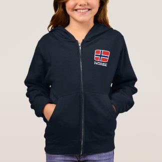Norge Flag Hoodie