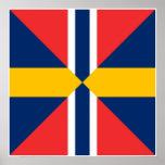 Norge Sverige Sildesalaten, Norway Poster