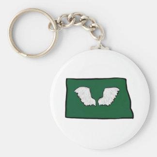 Norht Dakota Tough Wings Key Ring