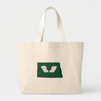 Norht Dakota Tough Wings Large Tote Bag