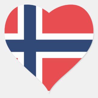 norieguian Flag Heart Sticker