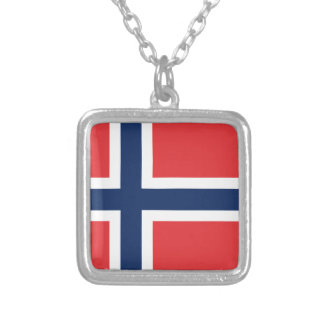 norieguian Flag Silver Plated Necklace