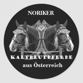NORIKER of cold blood horses from Austria Classic Round Sticker