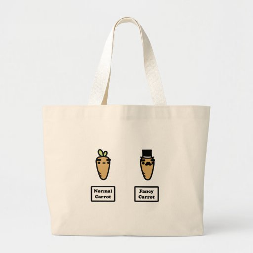 Normal Carrot, Fancy Carrot Canvas Bags