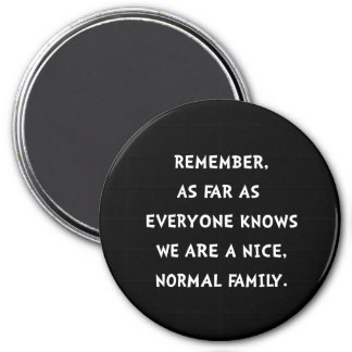 Normal Family 7.5 Cm Round Magnet