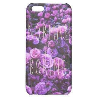 NORMAL IS BORING iPhone 5C CASES