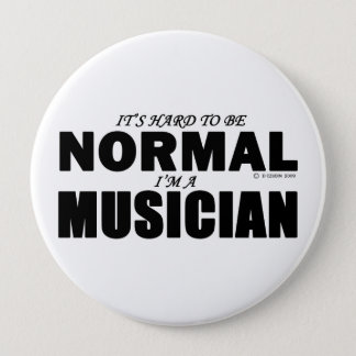 Normal Musician 10 Cm Round Badge