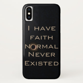 Normal never existed w/ solar eclipse 2017 iPhone x case
