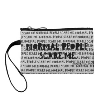 """Normal People Scare"" Me - IndianCurrent Change Purses"