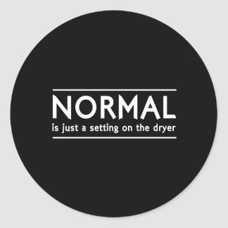 Normal Setting Classic Round Sticker