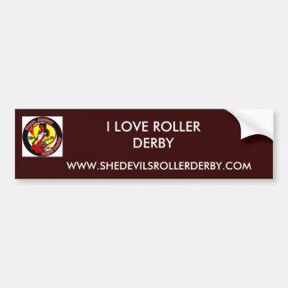 normal_shedevilslogo, WWW.SHEDEVILSROLLERDERBY.... Bumper Sticker