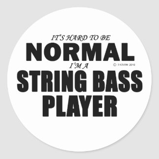 Normal String Bass Player Stickers