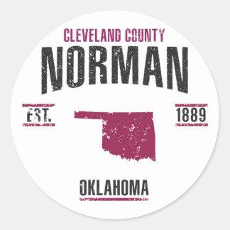 Norman Classic Round Sticker