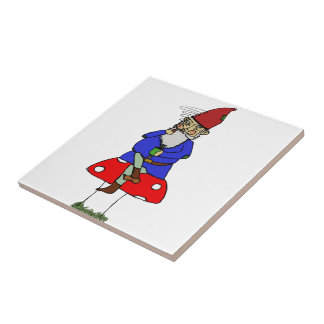 Norman Gnome Ceramic Tile