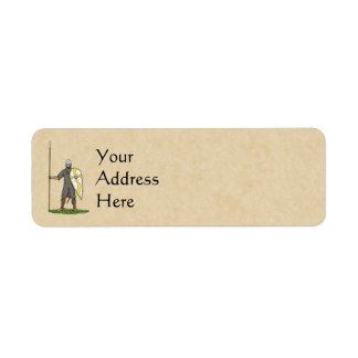Norman Knight, Circa 1066 Return Address Label