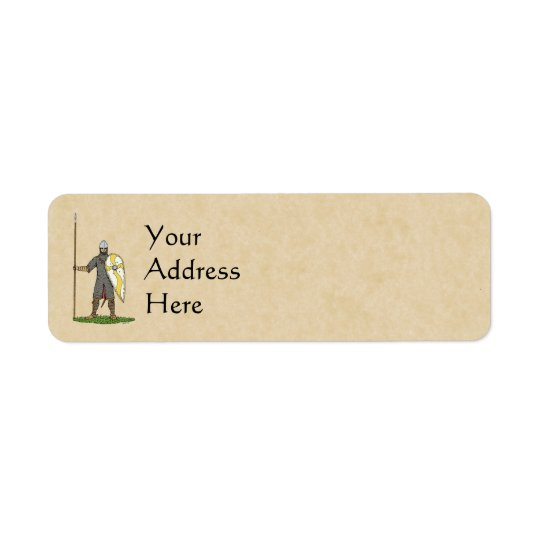 Norman Knight, Circa 1066 Return Address Label