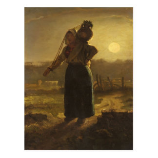 Norman Milkmaid by Jean-Francois Millet Postcard