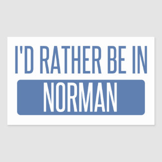 Norman Rectangular Sticker