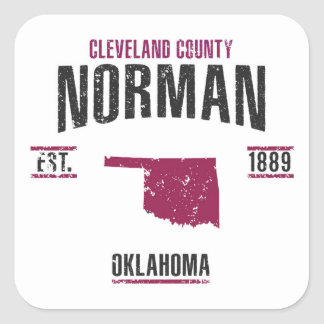Norman Square Sticker