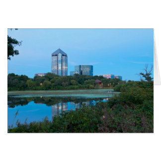 Normandale Lake and Buildings Card