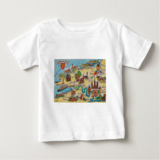 Normandie old map baby T-Shirt