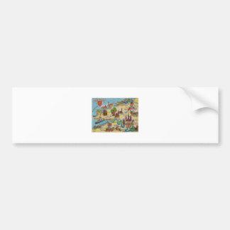 Normandie old map bumper sticker