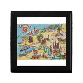 Normandie old map gift box