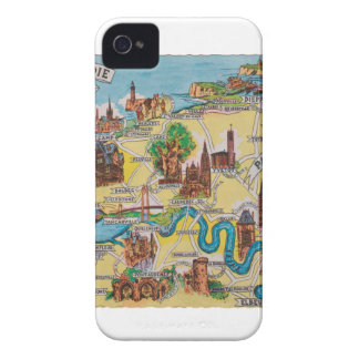 Normandie old map iPhone 4 case