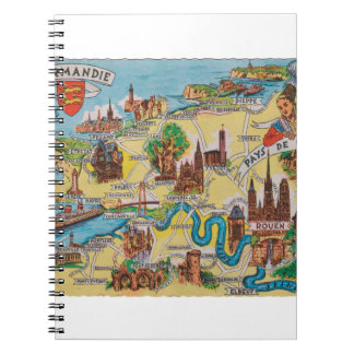 Normandie old map notebooks