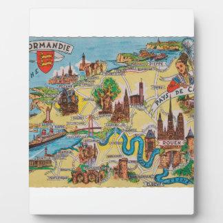 Normandie old map plaque