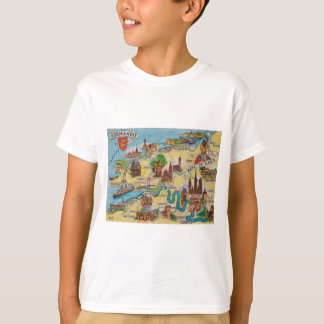 Normandie old map T-Shirt