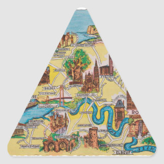 Normandie old map triangle sticker