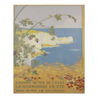 Normandy Beach France Poster