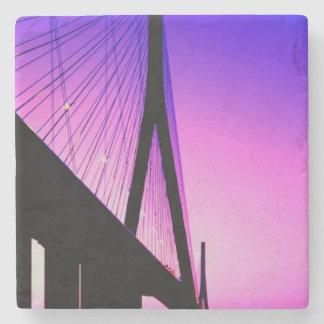 Normandy Bridge, Le Havre, France Stone Coaster