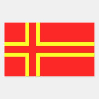 Normandy ethnic flag rectangular sticker