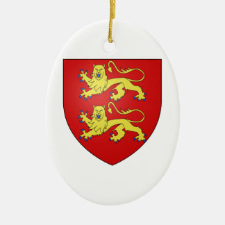 Normandy (France) Coat of Arms Ceramic Ornament