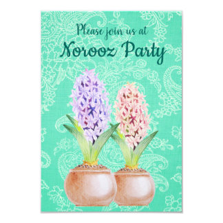 Norooz party Hyacinth emerald green Card