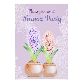 Norooz party Hyacinth purple Card