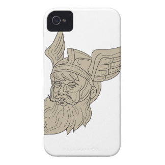 Norse God Odin Head Drawing iPhone 4 Cases