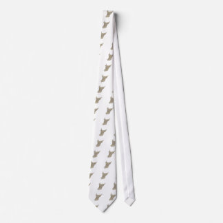 Norse God Odin Head Drawing Tie