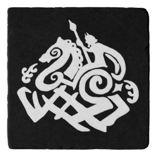Norse God Odin Silhouette Trivet