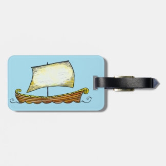 Norse Viking Ship Luggage Tag