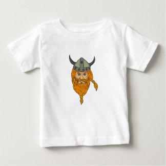 Norseman Viking Warrior Head Drawing Baby T-Shirt