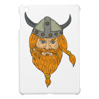 Norseman Viking Warrior Head Drawing iPad Mini Cover