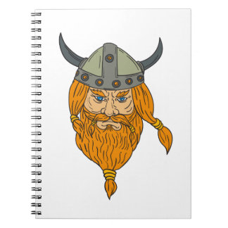 Norseman Viking Warrior Head Drawing Notebooks