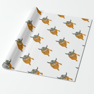 Norseman Viking Warrior Head Drawing Wrapping Paper