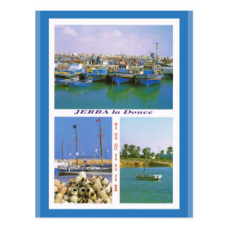 North Africa, Jerba, Tunisia, boats in the harbour Postcard