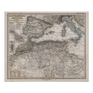 North Africa Region Map Poster